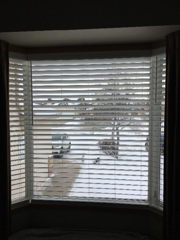"2"" wide, white blinds - 3 for sale"