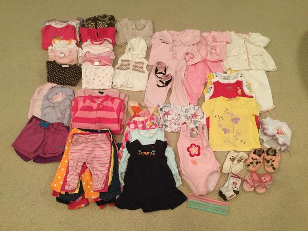 Girls Newborn to 1 Year assorted clothing