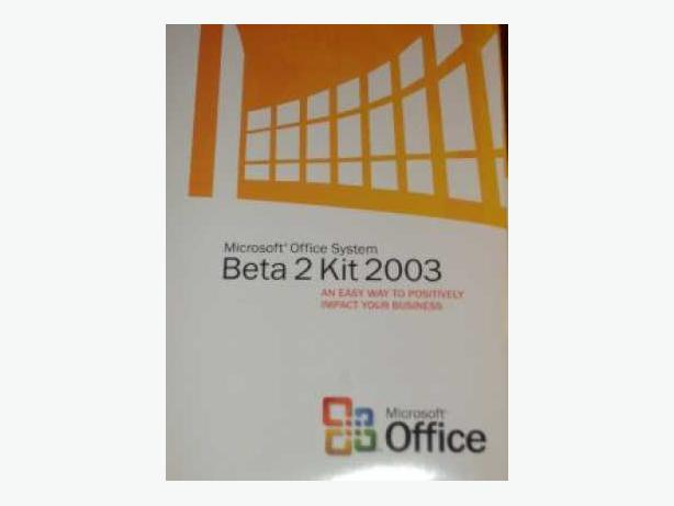 Brand New Microsoft Office System Beta 2 Kit 2003