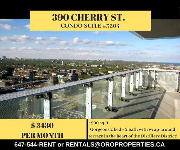 390 Cherry St - 2 Bedroom Condo with Huge Balcony in the Distillery District!