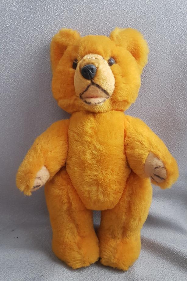 c1965 Straw Stuffed Teddy Bear