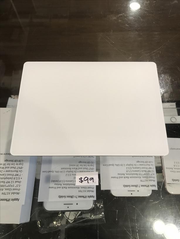 Silver Apple Trackpad 2 Wireless Bluetooth A1535 w/ Warranty!