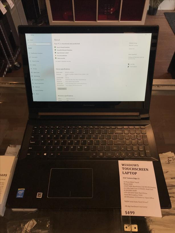"""Touch Screen 15.6"""" Lenovo Edge 15 2.2GHz 8GB RAM 250GB SSD NEW SSD w/ Warranty!"""