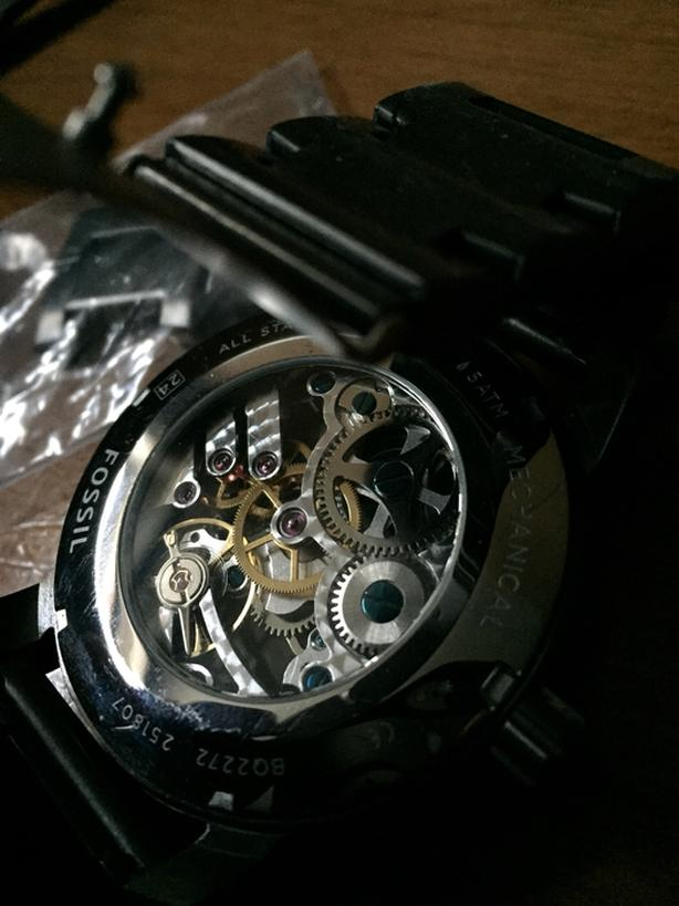 Mechanical see through watch all metal