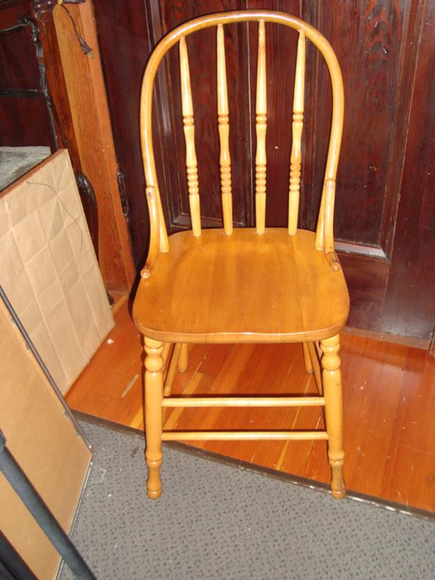 Vintage bow back chair