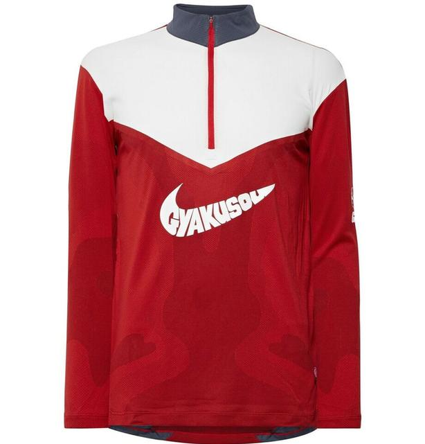 Nike x Undercover NRG Printed Dri-FIT Mesh Half-Zip Top Red