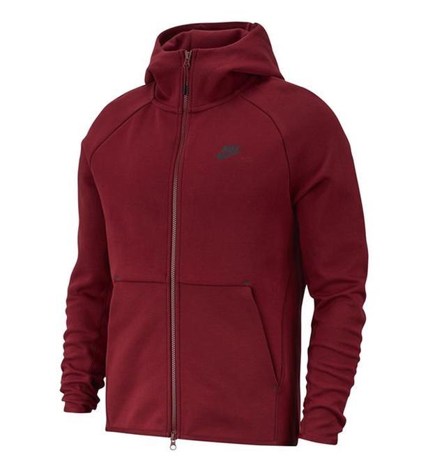 Nike Tech Fleece Hoodie Burgundy