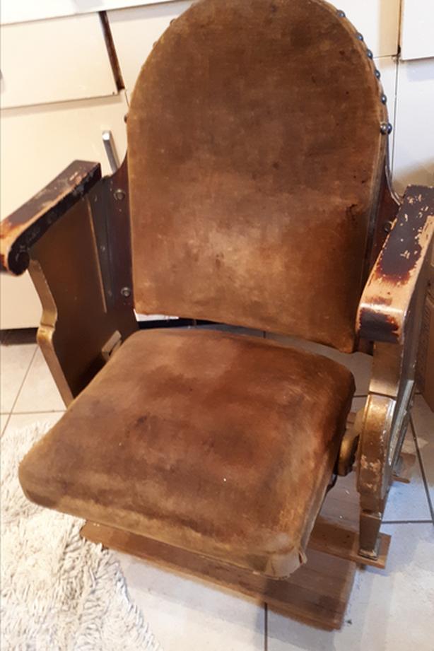 Velvet Padded Theatre Chair
