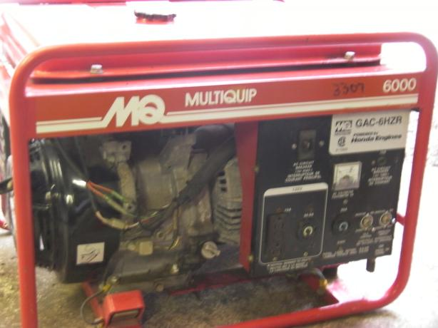 MQ 6000 it been dual fuel gas and propane with a true honda motor