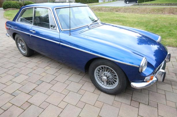 RARE 1970 MGB GT restored.