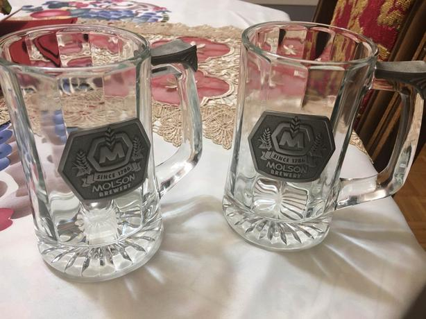 Authentic Pair of Molson Canadian Beer Mugs