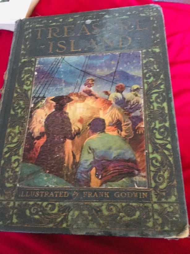 1924 first edition hardcover book: Treasure Island by Robert Louis Stevenson