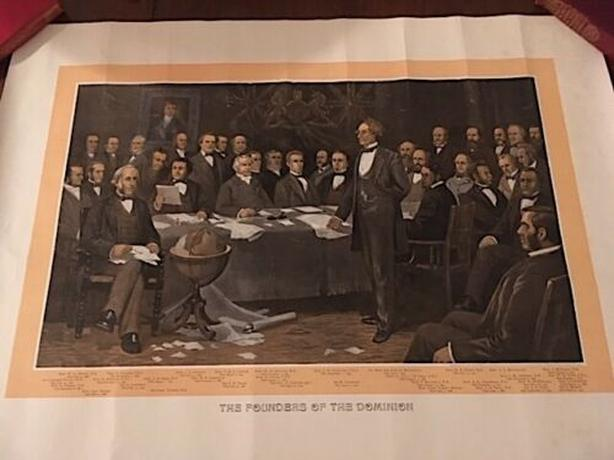 The Founders of the Dominion (Canada)  Lithograph 1899