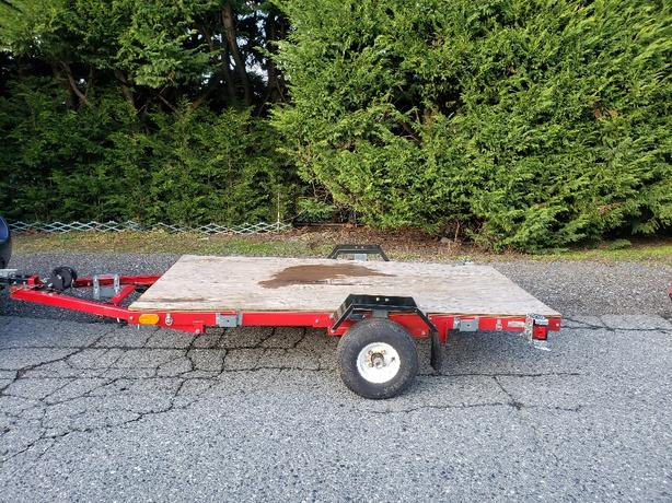 2017 tilt flat deck trailer