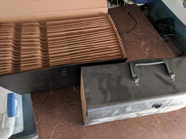 FREE: 2 accordion type file folders
