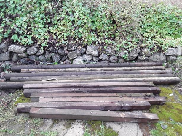 FREE: Treated fence posts