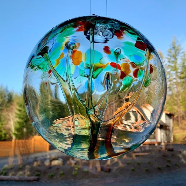 """Handmade Kitras Art Glass Balls 6"""""""