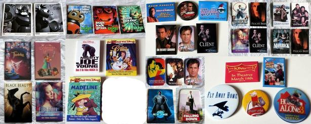 Collection of 36 Movie Promo Pins