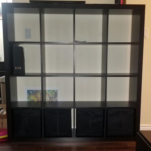IKEA Kallax shelf with inserts