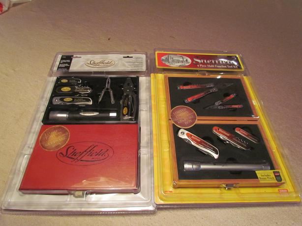 Limited Edition, Sheffield 6 piece multi function tool, knife and flashlight set