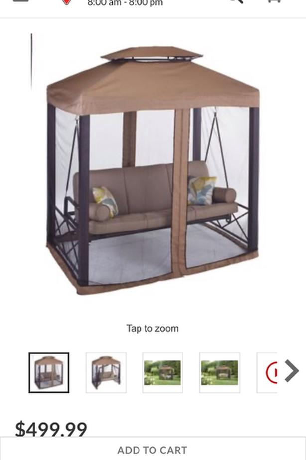 Outdoor seat swing covered