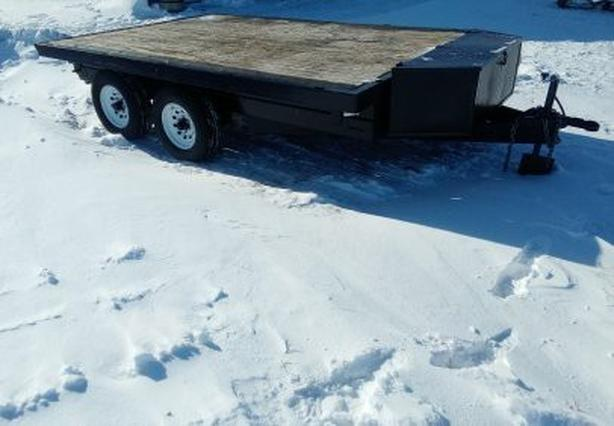 MUST SELL TODAY!!! 12 x 8 completely redone dump/bobcat trailer