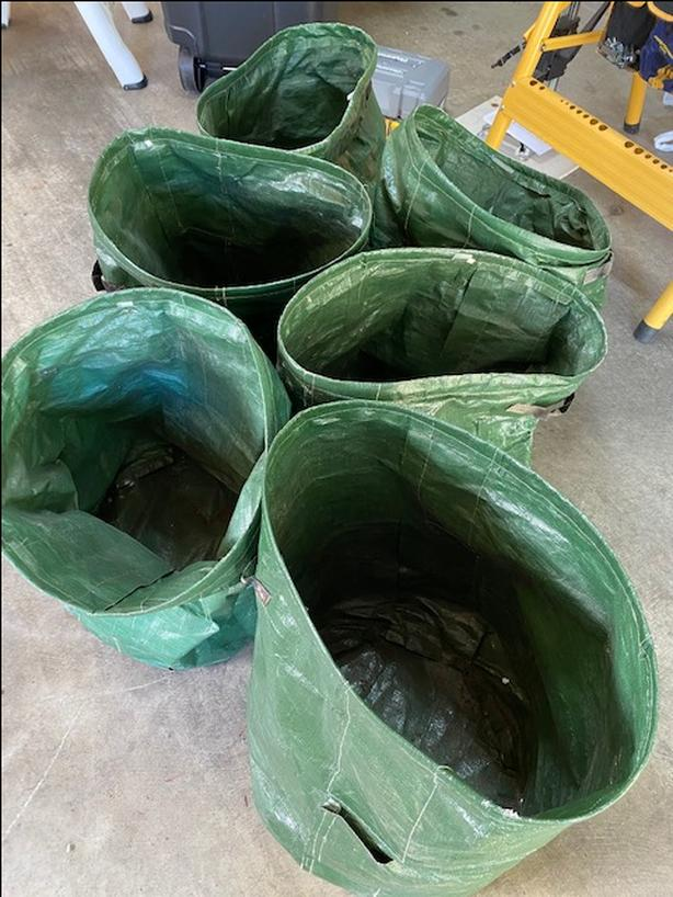 six potato grow bags