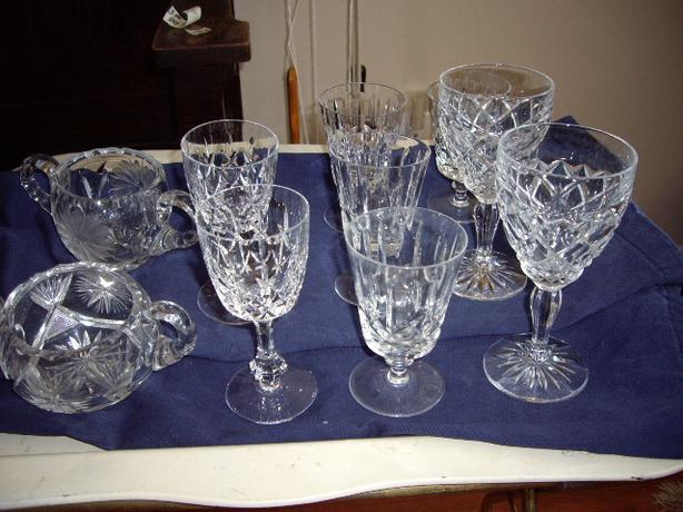 CRYSTAL GLASSES/SUGARS $1-2 EACH