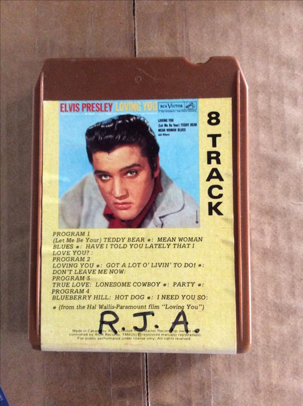 Ten 8 Track Cassettes