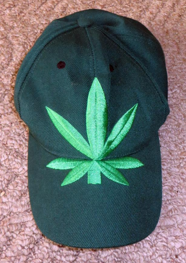 Weed Leaf Green Baseball Cap
