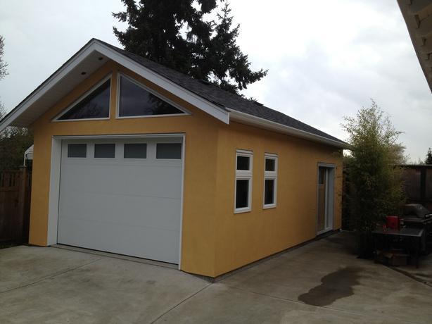 New garage / garden suite