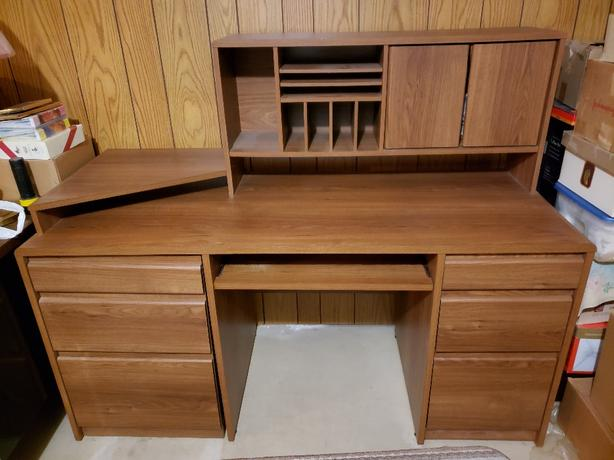 Office/ computer desk and loveseat with chairs for sale