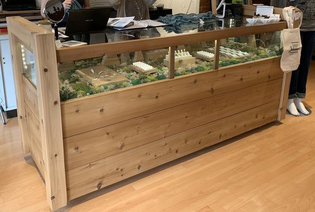 Custom Wood Display Case and Storage