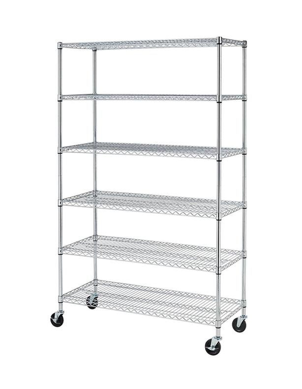 "72""x48""x18"" Commercial  Shelf Adjustable Steel Wire Metal Shelving Rack"