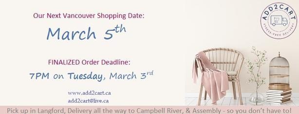 Add2cart.ca Victoria   We deliver IKEA  March 5th