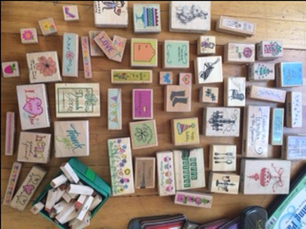 50+  ink stamps & card making tools