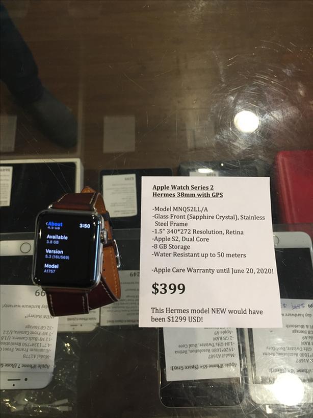 Apple Watch Series 2 Hermes 38mm with GPS 8 GB w/ Apple Care Warranty!