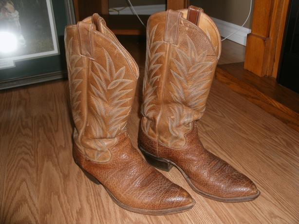 Justin Mens Western leather boots