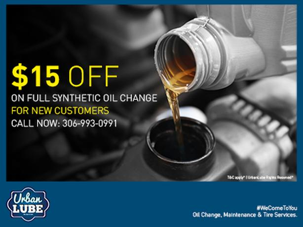$15 Off On Full Synthetic Oil Change - Urban Lube
