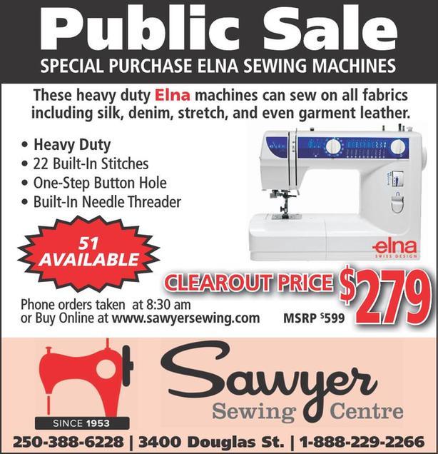 NEW Elna Sewing Machines