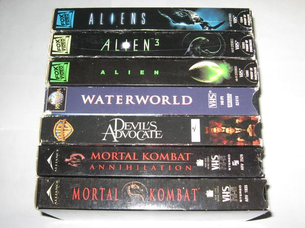 7 VHS Tapes ,Aliens,Mortal Kombat,Waterworld all for $7