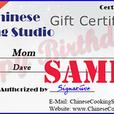 Gift Certificates for Asian Cooking Classes