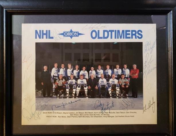Signed NHL Old timers group picture.