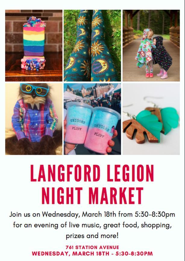 FREE: Langford Legion Night Market (March 18th)