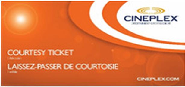 1 Cineplex Odeon Courtesy Pass Movie Gift Card - $16