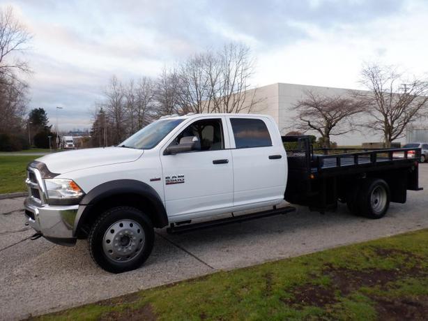 2015 RAM 5500 Crew Cab Flat Deck 10 foot 4WD Dually