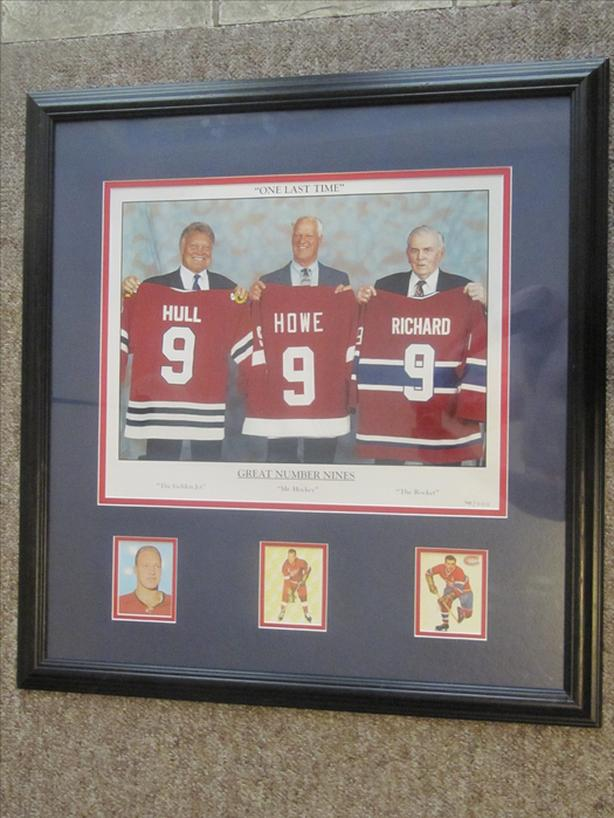 Great # 9's Lithograph. #745/999.  Hull, Howe & Richard