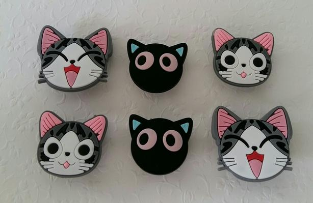 Cute Cat Shoe Charms for Crocs or as Magnets