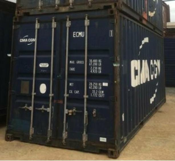 HONEYBOX - EDMONTON  - 20'STD WWT - Used shipping containers. Prefix CMAU