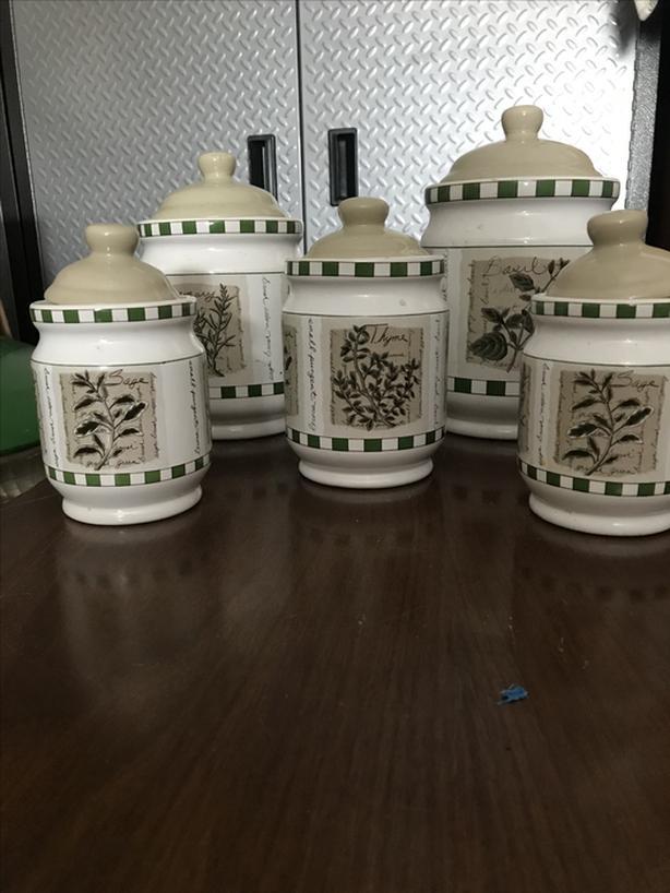 Porcelain canister set